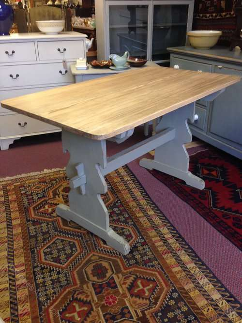 1930's Painted Pine Trestle Table SOLD