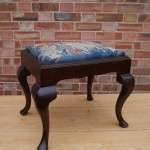 19th Century Mahogany Stool Original Needle work SOLD