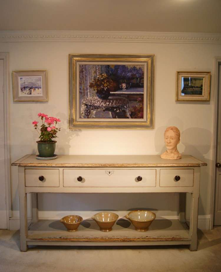 Painted Reclaimed Pine Dresser Base Console Table