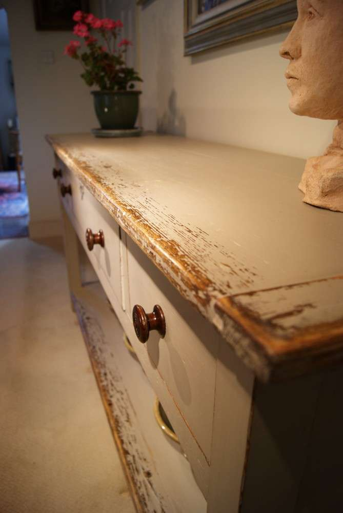 Painted Reclaimed Pine Dresser Base Console Table3