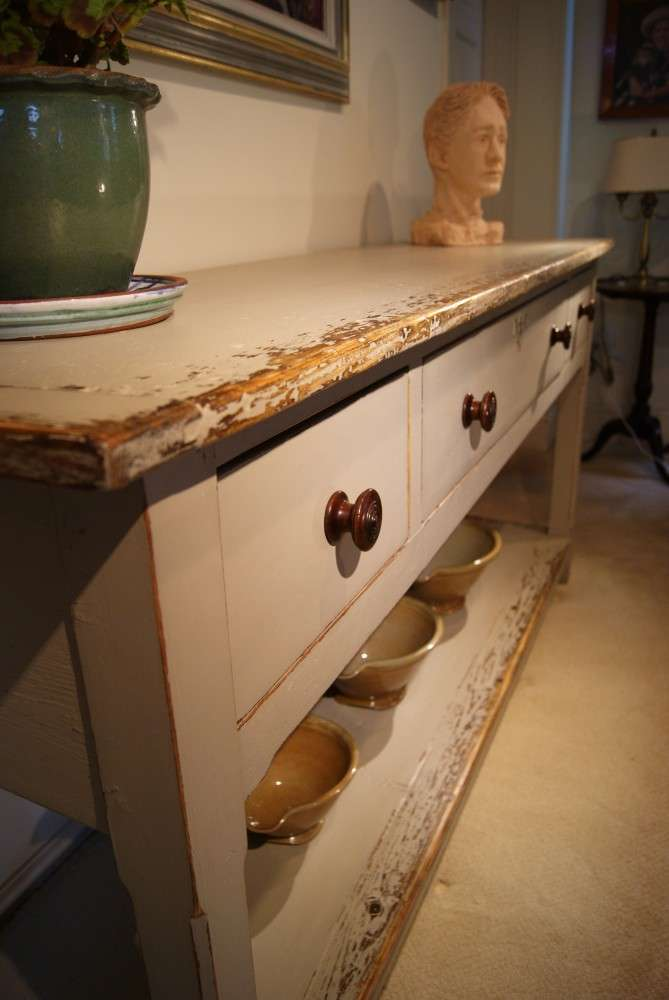 Painted Reclaimed Pine Dresser Base Console Table4