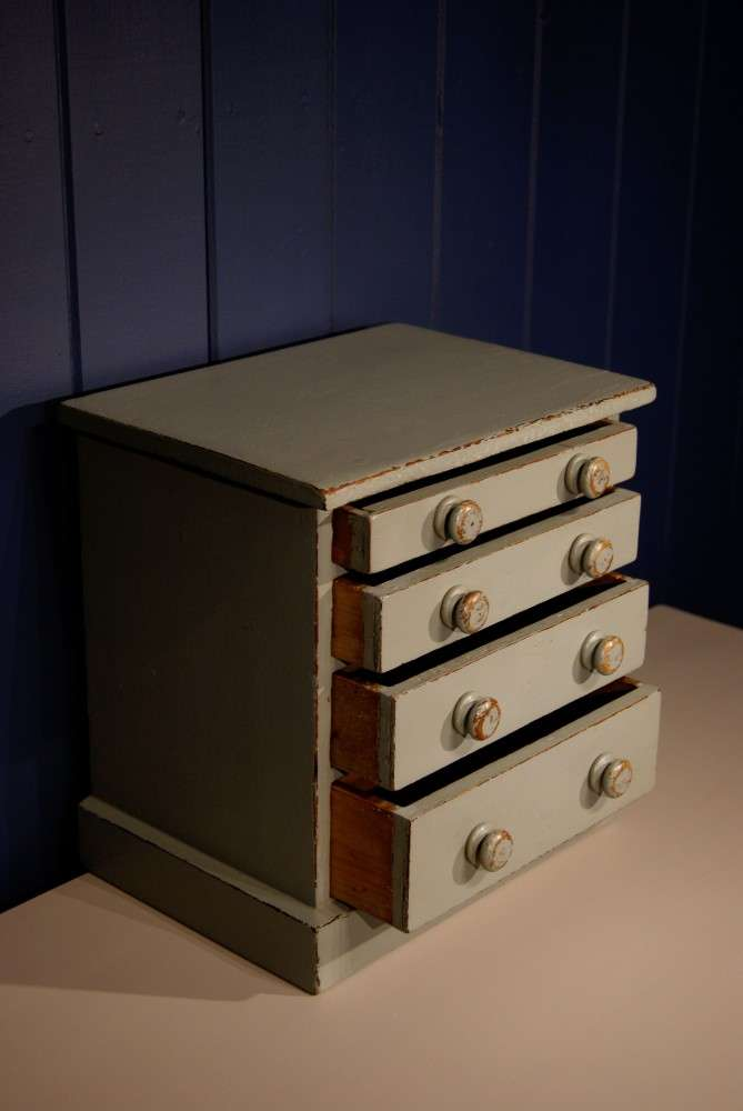 Mid Victorian Painted Pine Miniature Chest SOLD- Ref:1029