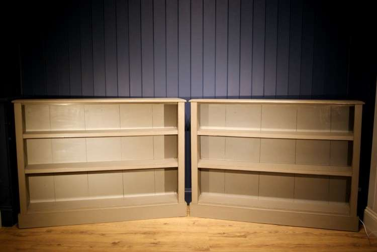 Pair of Victorian Painted Oak Bookcases