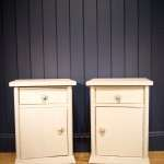 1920's French Painted Pine Bedside Cupboards SOLD- Ref:1035