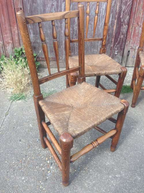 Early 19th Century Elm Spindle Back Chairs SOLD