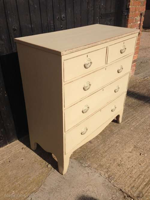 Georgian Painted Mahogany Chest Of Drawers SOLD