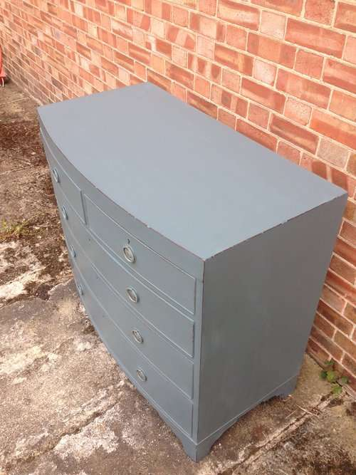 Early 19th Century Painted Mahogany Chest2
