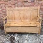 Early 19th Century Pine Box Settle SOLD