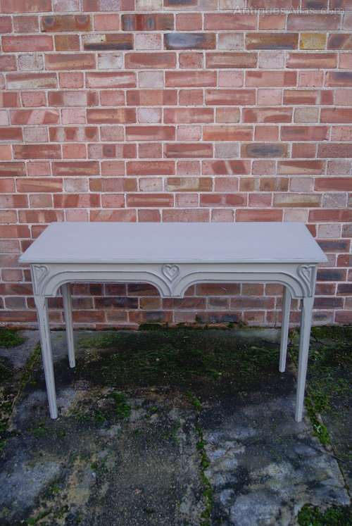 Early Victorian Painted Consul Valentine Table SOLD