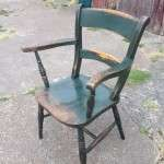Early Victorian Painted Elm Chair SOLD