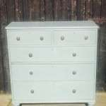 Early Victorian Painted Mahogany Chest Of Drawers SOLD