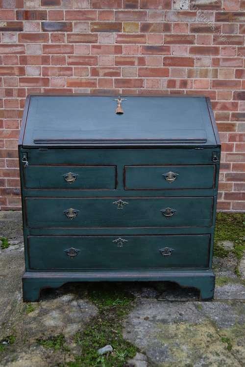 Early Victorian Painted Oak Bureau SOLD- Ref:1024