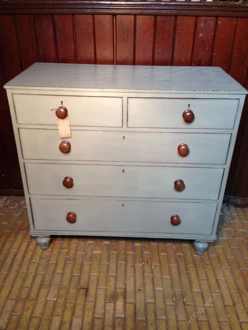 Early Victorian Painted Oak Chest SOLD