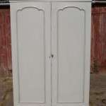Early Victorian Painted Satinwood Wardrobe SOLD