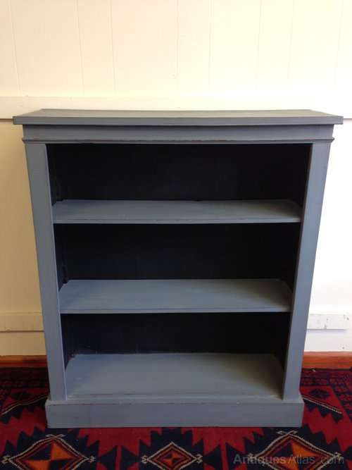 Edwardian Painted Mahogany Open Bookcase SOLD