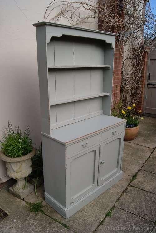 Edwardian Painted Oak Cottage Dresser1