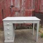 Edwardian Painted Pine School Desk SOLD