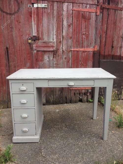 Edwardian Painted Pine School Desk SOLD
