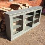 Edwardian Painted Pine Low Glazed Shelves SOLD