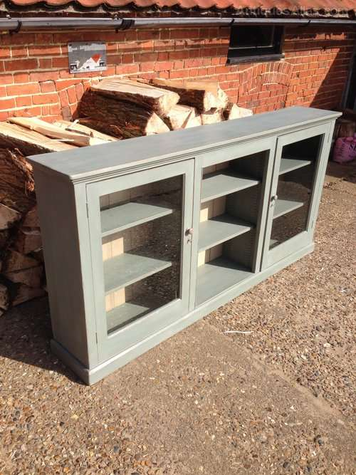 Edwardian Painted Pine Low Glazed Shelves SOLD