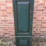 Edwardian Painted Solid Oak 2 Door Cupboard SOLD
