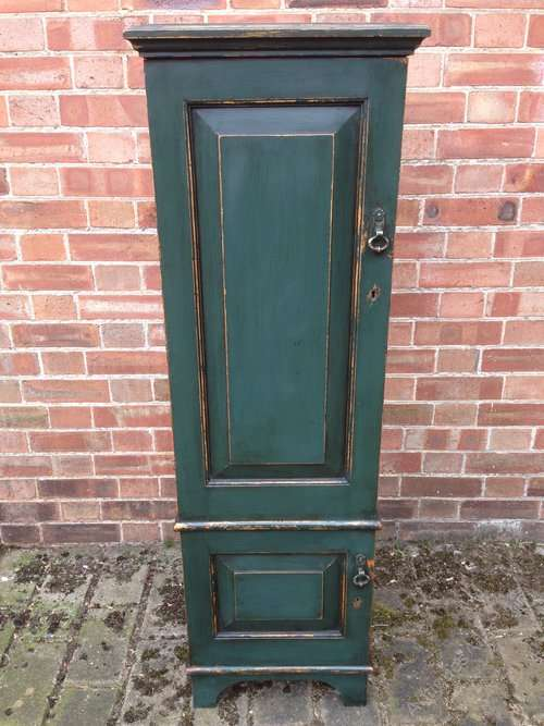 Edwardian Painted Solid Oak 2 Door Cupboard SOLD