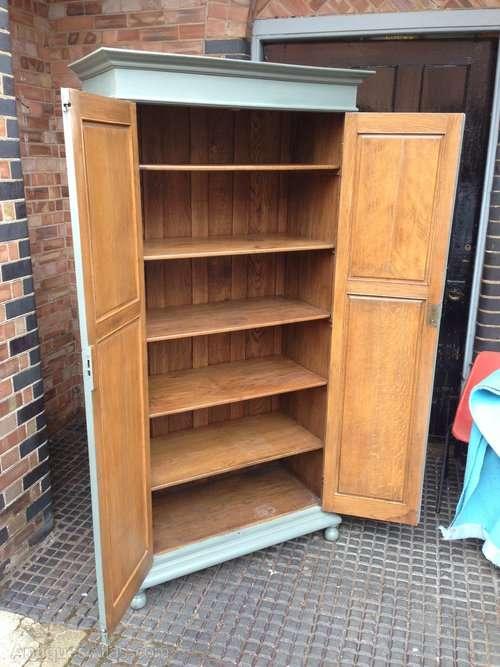 Painted Edwardian Oak Linen Cupboard SOLD