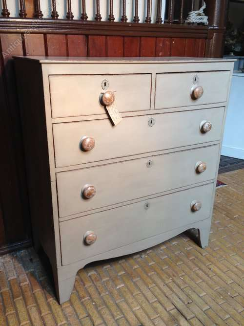 Georgian Painted Oak Chest Of Drawers SOLD