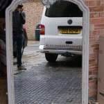 Impressive Late 19th Century French Painted Mirror SOLD