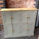 Late 19th Century 8 Door Painted Cupboard SOLD