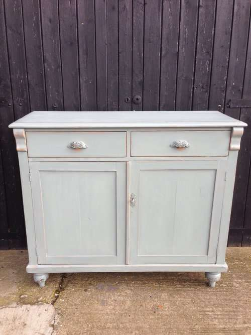 Victorian Painted Pine Cupboard SOLD
