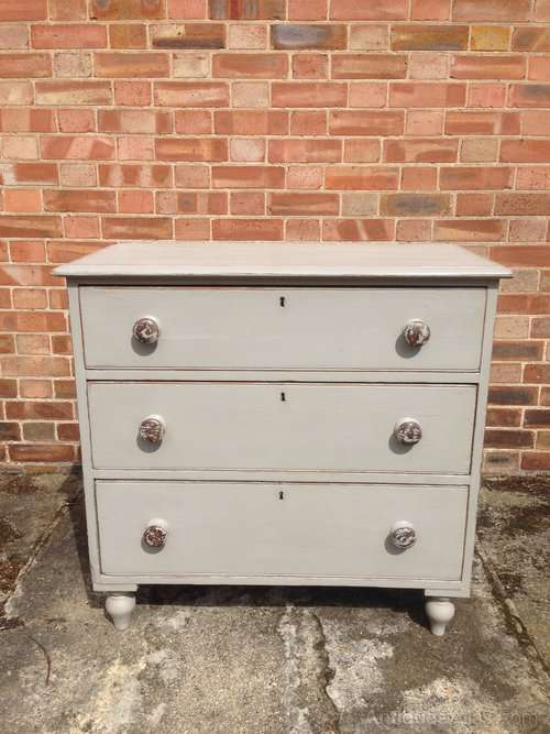 Victorian Painted Pine 3 Drawer Chest SOLD