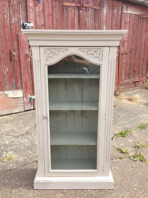 Late Victorian Painted Glazed Cupboard SOLD