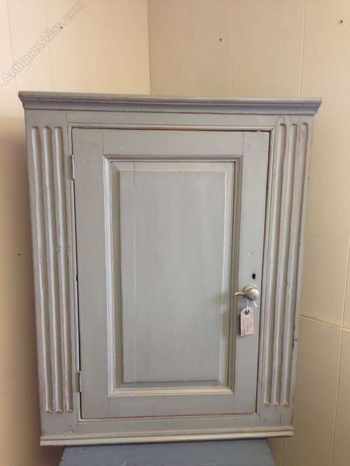 Victorian Painted Pine Hanging Corner Cupboard SOLD