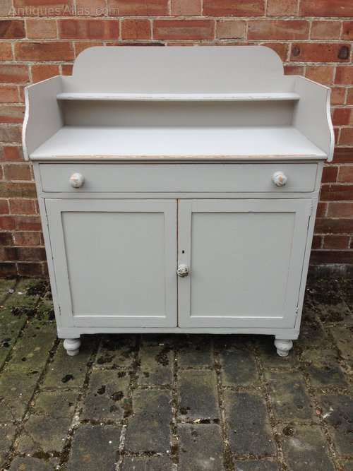 Late Victorian Painted Pine Cupboard SOLD