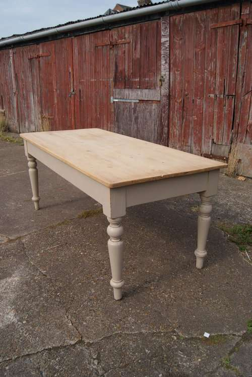 Late Victorian Painted Pine Farmhouse Table SOLD- Ref:1025