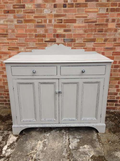 Late Victorian Painted Pine Kitchen Cupboard SOLD