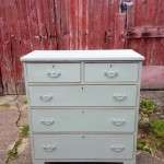 Late Victorian Painted Walnut Chest SOLD