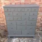 Mid 19th Century Painted Oak Bank Of Drawers SOLD