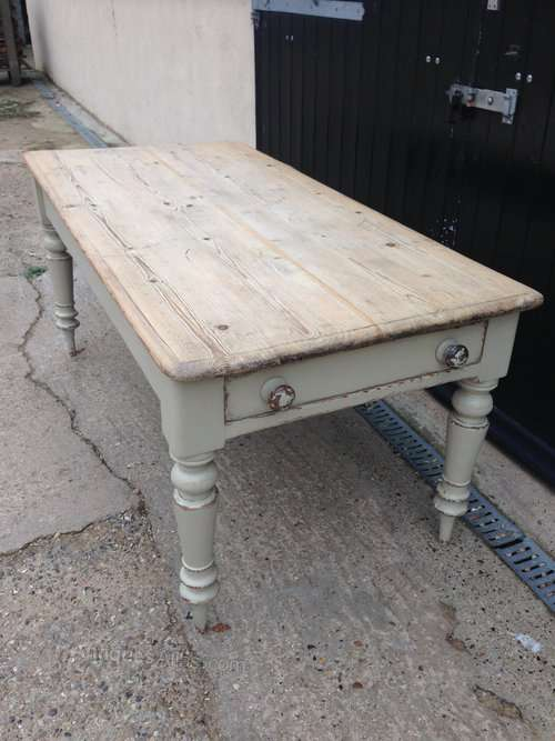 Mid 19th Century Painted Pine Dining Table SOLD