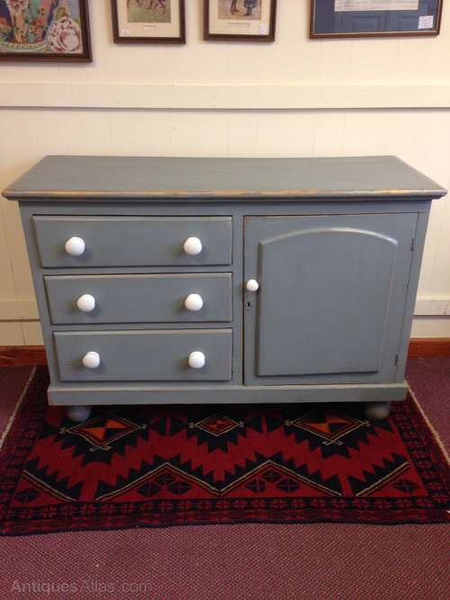 Mid 19th Century Painted Pine Dresser Base SOLD