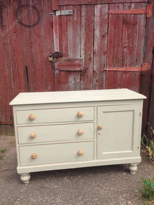 Mid 19th Century Painted Pine Kitchen Base SOLD