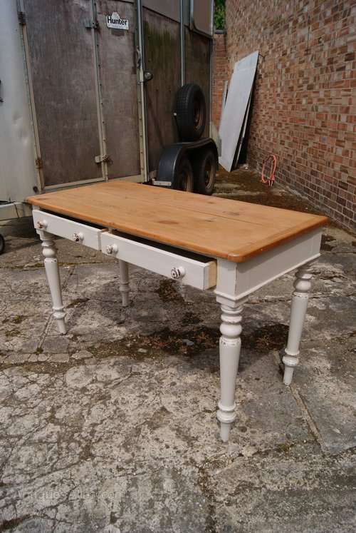 Mid Victorian Painted Cottage Table2