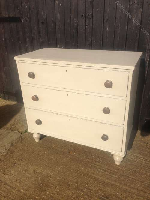 Mid Victorian Painted Mahogany Chest SOLD