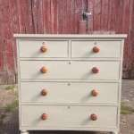 Mid Victorian Painted Mahogany Chest Of Drawers SOLD