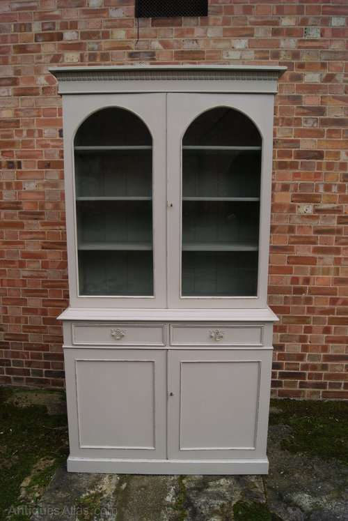 Mid Victorian Painted Mahogany Cupboard Bookcase SOLD- Ref:1023