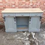 Mid Victorian Painted Oak Dresser Base SOLD