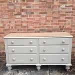 Mid Victorian Painted Pine 6 Drawer Base SOLD