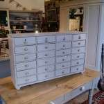 Mid Victorian Painted Pine Bank Of Drawers SOLD