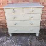 Mid Victorian Painted Pine Chest Of Drawers SOLD